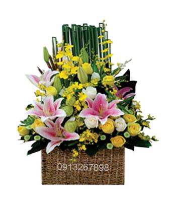 hoa giỏ đẹp 12s